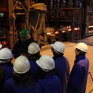 Visite d'une aciérie en Seine-et-Marne, dans le cadre du cours environnement et procédés industriels.