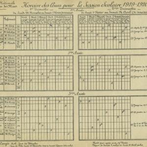 Horaires des cours pour la session scolaire 1919-1920.jpeg