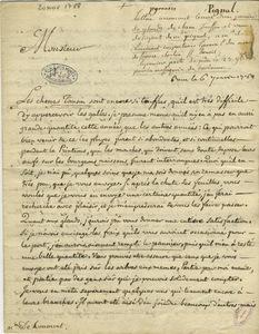 Lettre de Mme Lebreton-Pignal à Gillet de Laumont, 20 novembre 1788.