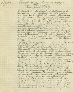 Compte rendu du voyage en Allemagne d'Henri Joulot