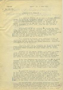 Compte-rendu des propositions d'André Honnorat à la chambre des députés, 5 juin 1917.