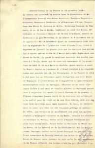 Procès-verbal de la séance du 12 novembre 1918 du conseil des mines portugais