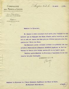 Lettre de Louis Champy à Gabriel Chesneau, 11 avril 1922