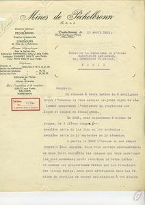Lettre d'André Pellissier à Gabriel Chesneau, 19 avril 1921