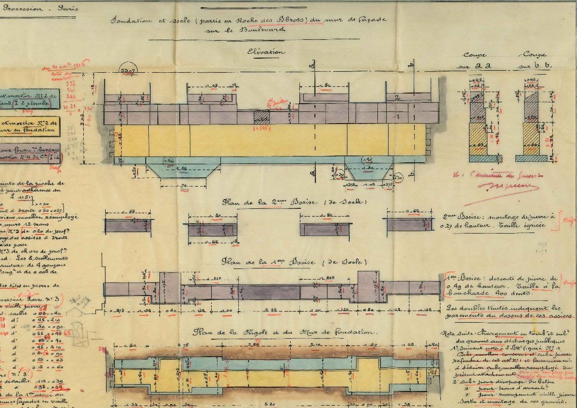 Plan des nouveaux laboratoires de minéralogie et de mécanique