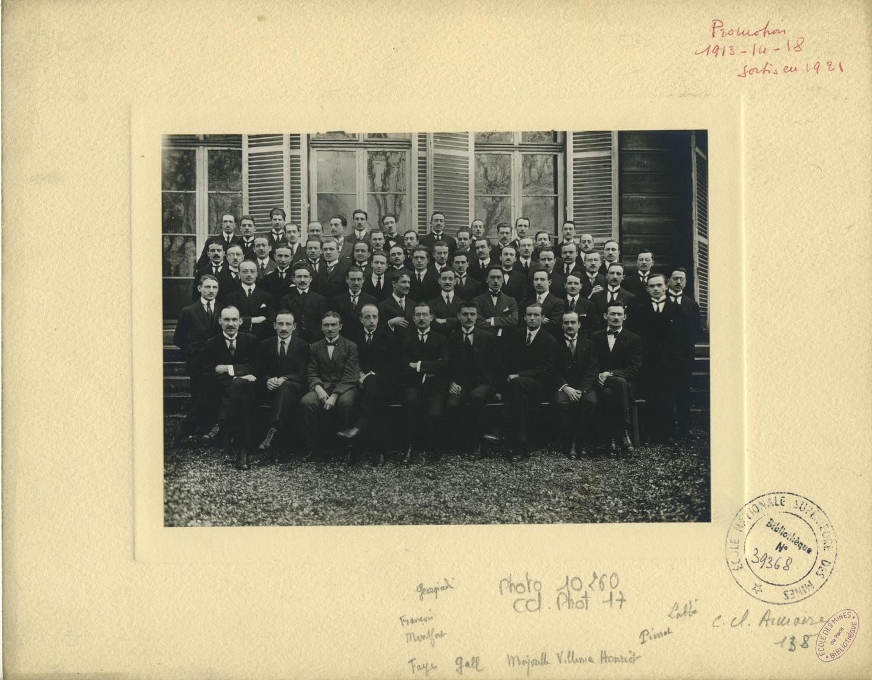 Elèves de l'Ecole des mines de Paris, sortis en 1921.