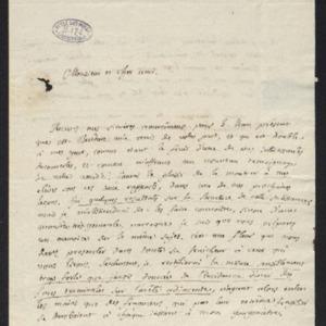 Lettre présentant ses recherches sur la structure de la Laumonite.