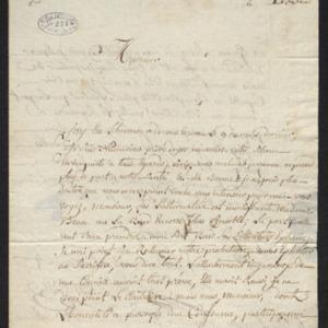 Lettre où il sollicite sa nomination en tant qu'inspecteur de la manufacture de toile de Morlaix.