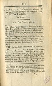 Cinquième chapitre de la géographie physique de Tobern Bergman; traduit du suédois par la Citoyenne A. Guichelin.