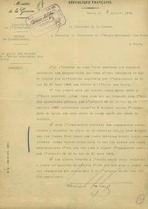 Lettre de Maurice Berteaux à Adolphe Carnot, 8 juillet 1905