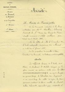 Arrêté de 1888