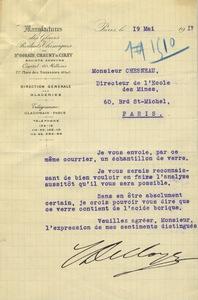 Lettre des manufactures de Saint-Gobain