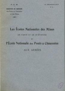 Couverture de la brochure de l'amicale des élèves et anciens élèves, 1916