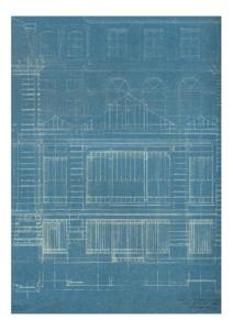Plan de la facade de l'hotel de Vendome sur le boulevard Saint-Michel par Duquesne