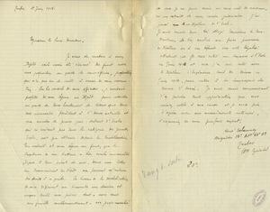 Lettre de René Delannoy adressée à Gabriel Chesneau