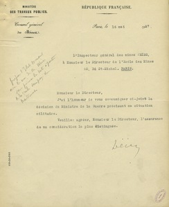 Lettre de Paul Louis Weiss à Gabriel Chesneau