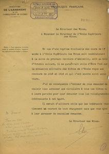 Lettre d'Emile Coste à Gabriel Chesneau, 28 décembre 1917