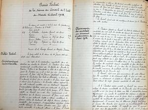 Procès-verbal de la séance du Conseil de l'Ecole du mardi 16 avril 1918.