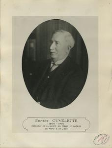 Photographie d'Ernest Cuvelette (1869-1936), président de la société des forges et aciéries du Nord et de l'Est, s.d.