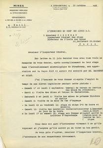 Lettre de Louis Weill à Gabriel Chesneau, 10 octobre 1923
